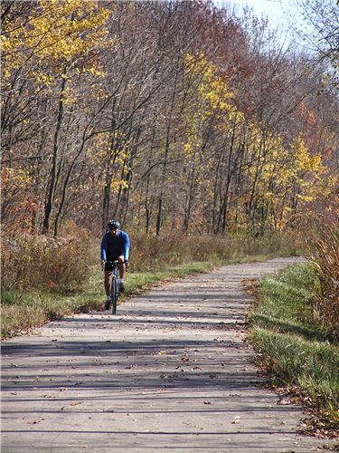 This bike trail runs along the edge of Zionsville. The race included two miles on this trail.